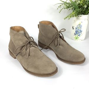 Lucky Brand leather suede brown booties